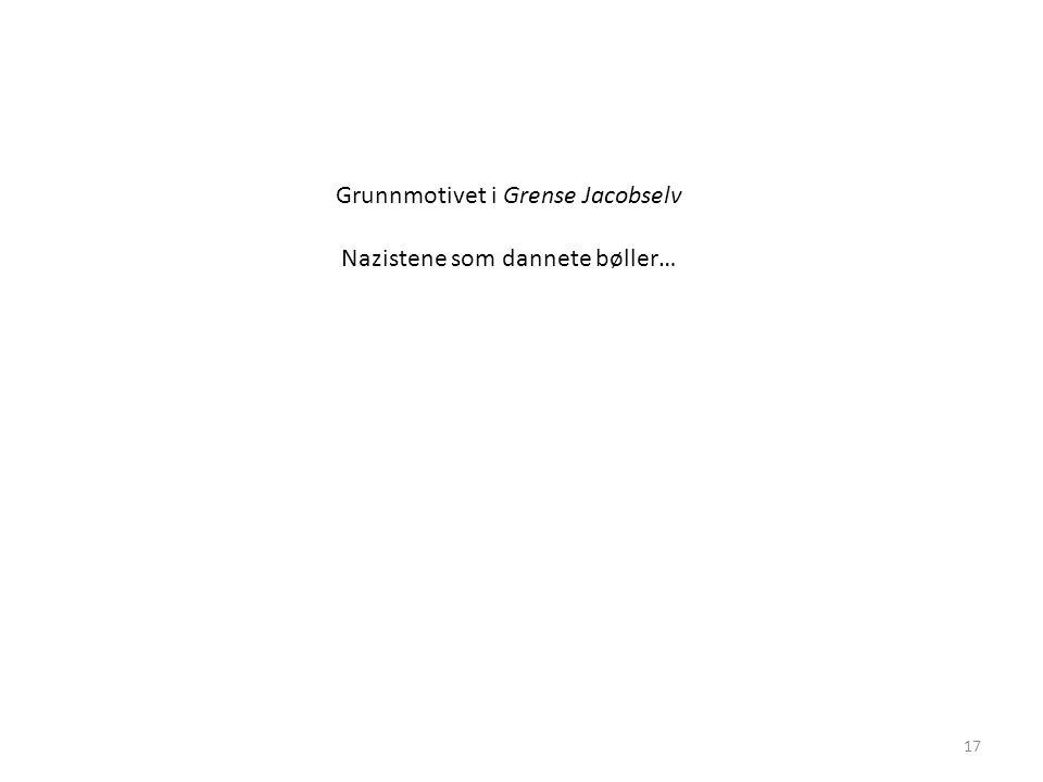 17 Grunnmotivet i Grense Jacobselv Nazistene som dannete bøller…