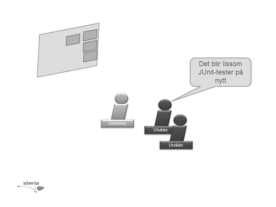 Utvikler Det blir lissom JUnit-tester på nytt Johannes