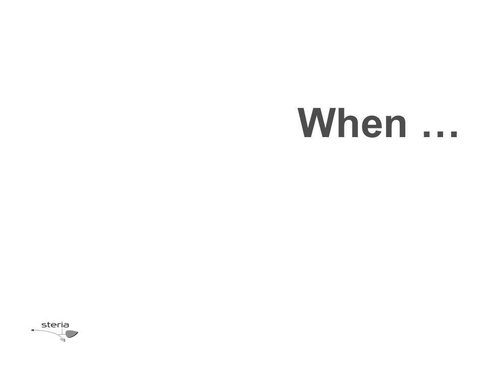 When …