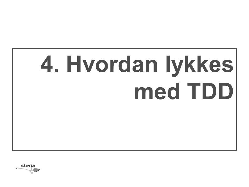 4. Hvordan lykkes med TDD