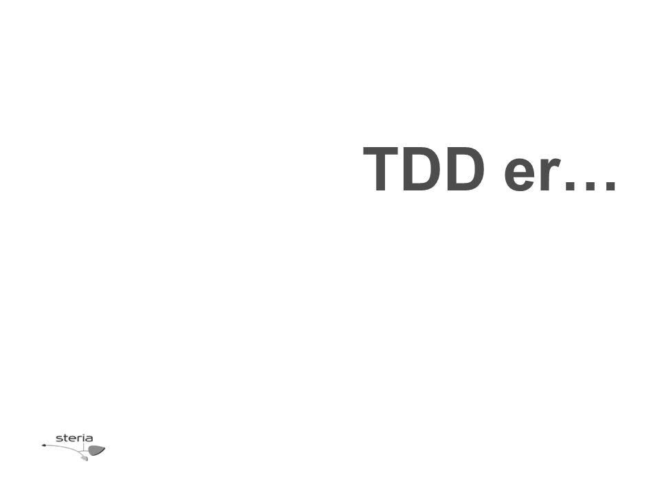 TDD er…