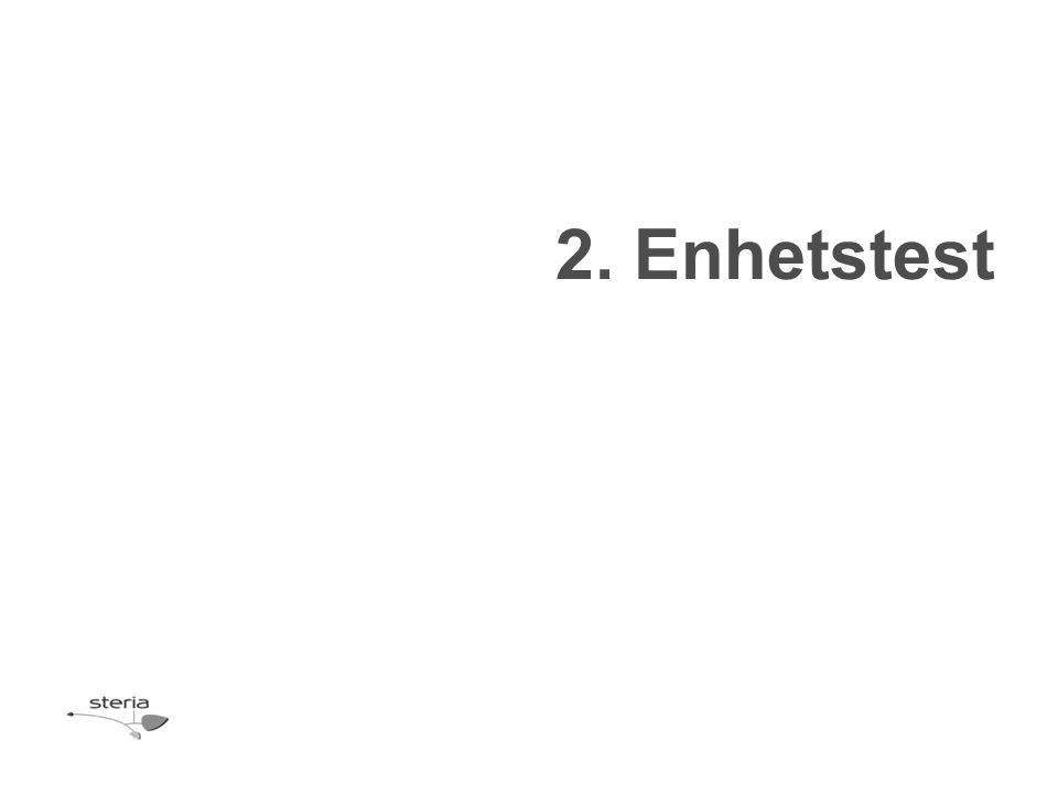 2. Enhetstest