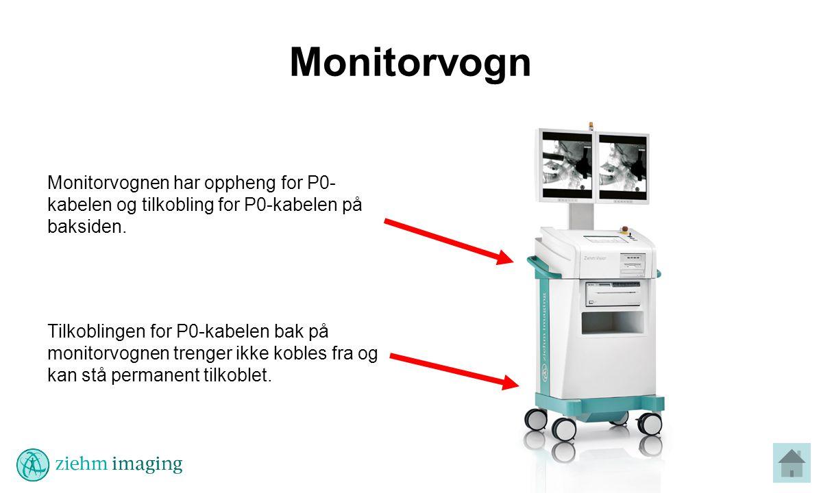 Monitorvogn Monitorvognen har oppheng for P0- kabelen og tilkobling for P0-kabelen på baksiden.