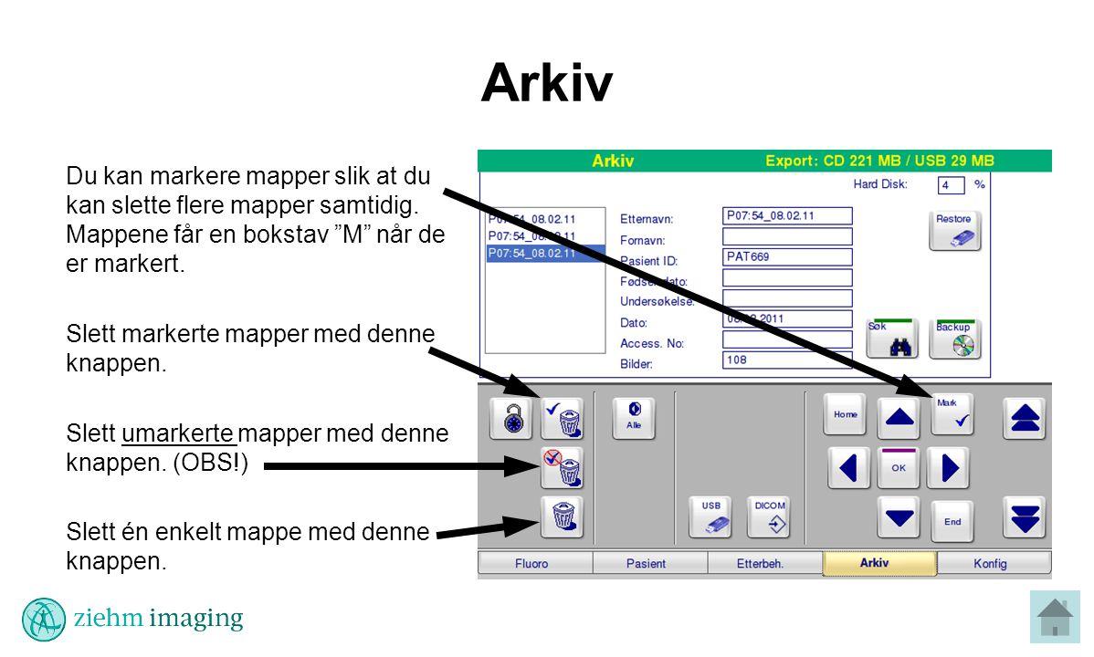 Arkiv Du kan markere mapper slik at du kan slette flere mapper samtidig.