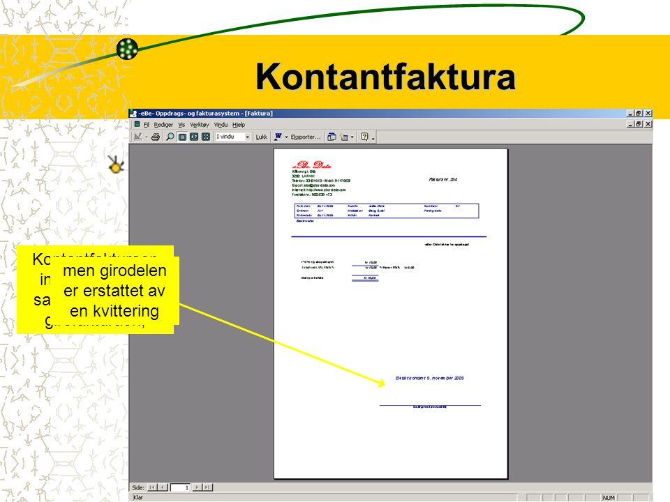 11 Purring i samme format Purring Purringen inneholder den samme info som fakturaen. I tillegg har det kommet inn en tekst som presiserer konsekvensen
