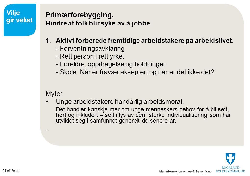 21.06.2014 Primærforebygging.
