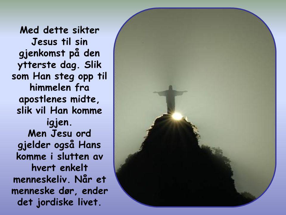 """Så våk da! For dere vet ikke hva dag deres Herre kommer."""" (Matt. 24,42)"""