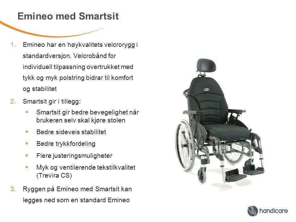 Emineo med Smartsit 1.Emineo har en høykvalitets velcrorygg i standardversjon.