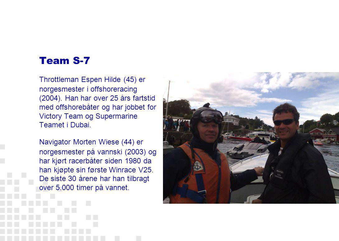 Booking LCC Consulting Lene Christiansen Mobil: 948 75 326 E-post: mail@lenecc.no The S-7 Offshore Experience