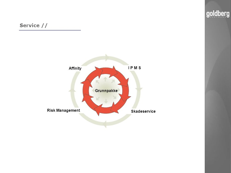 Service // Grunnpakke I P M S Affinity Skadeservice Risk Management