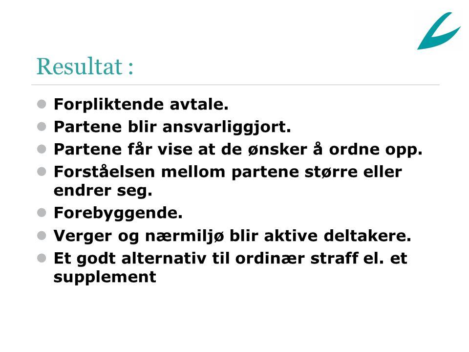 Resultat : lForpliktende avtale. lPartene blir ansvarliggjort.