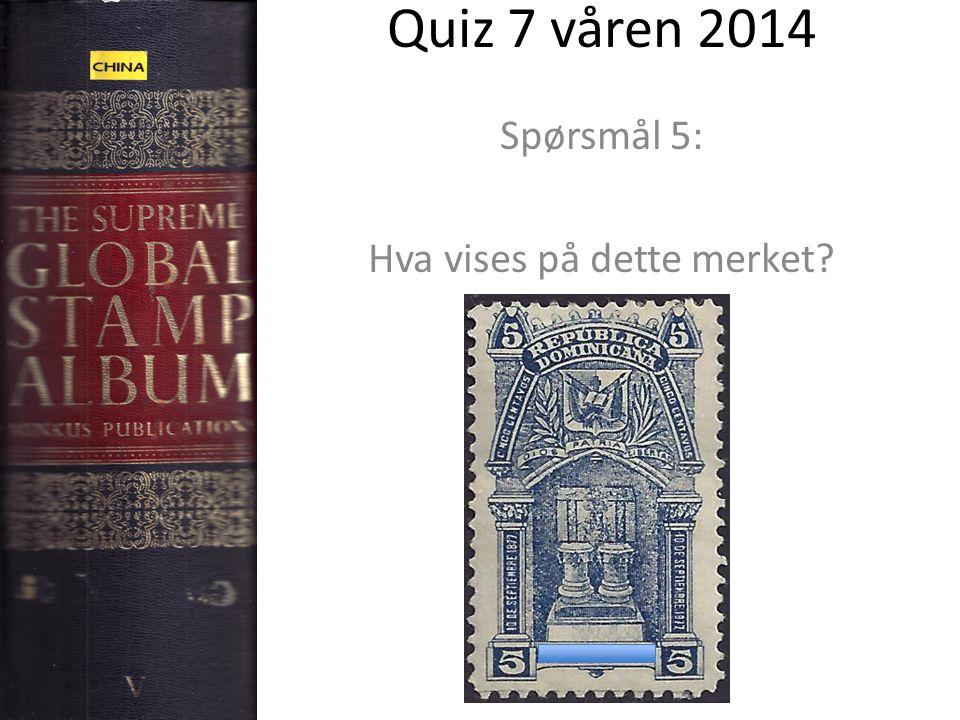 Quiz 7 våren 2014 Spørsmål 5: Hva vises på dette merket?