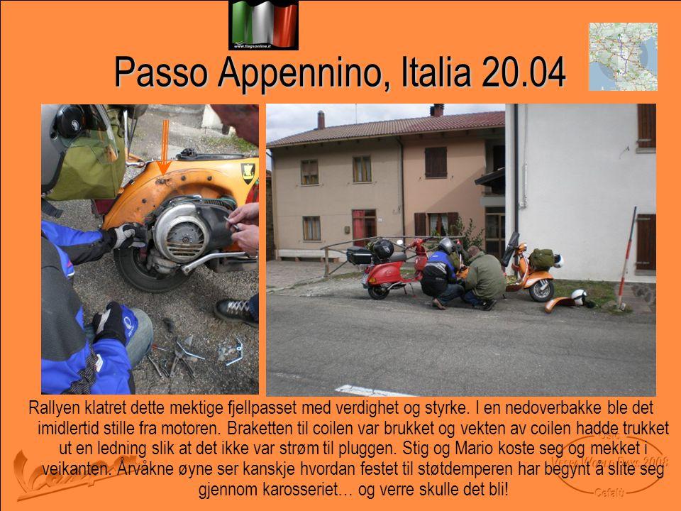 Passo Appennino, Italia 20.04 Rallyen klatret dette mektige fjellpasset med verdighet og styrke.
