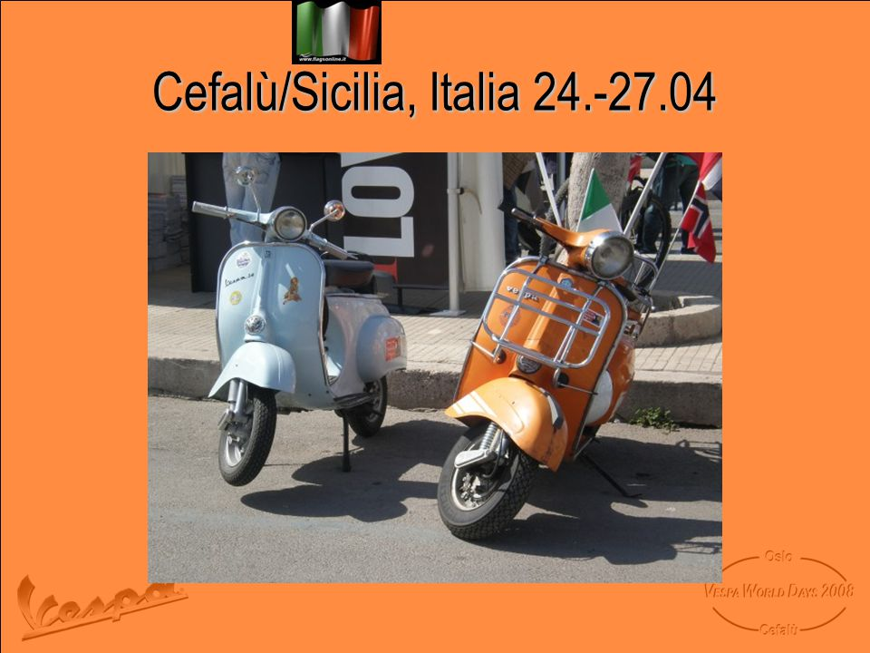 Cefalù/Sicilia, Italia 24.-27.04