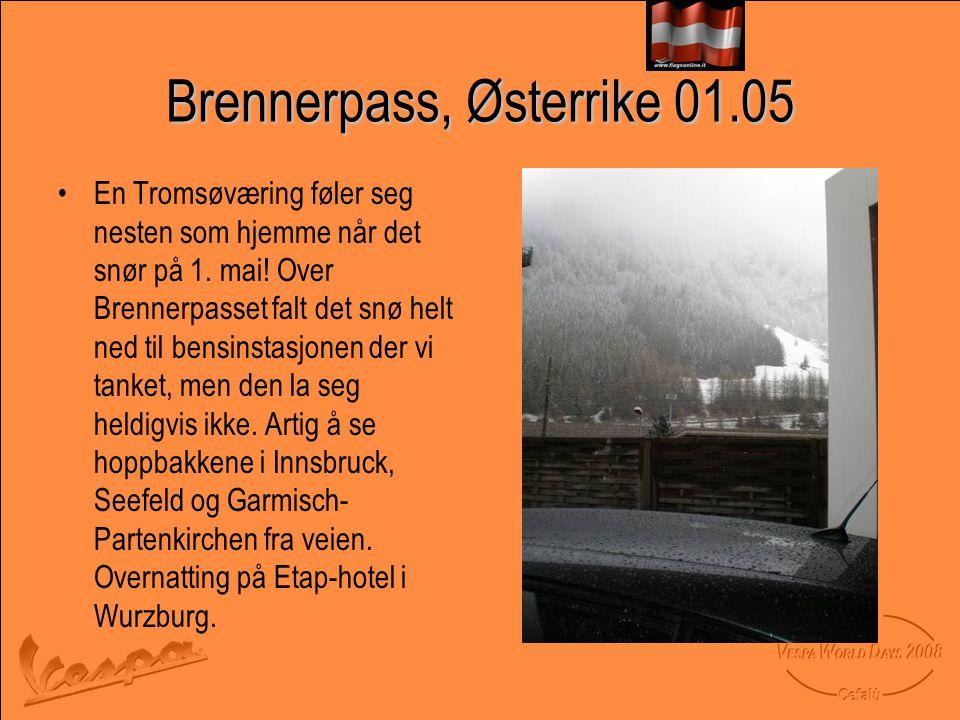 Brennerpass, Østerrike 01.05 •En Tromsøværing føler seg nesten som hjemme når det snør på 1.