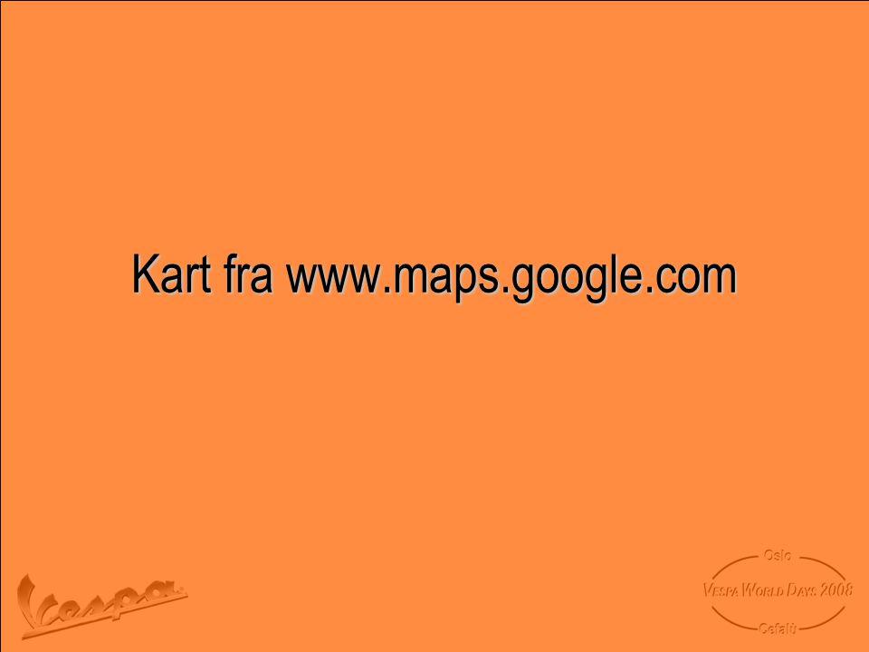 Kart fra www.maps.google.com