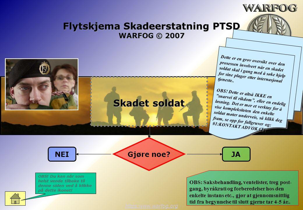 Flytskjema Skadeerstatning PTSD WARFOG © 2007 https:www.warfog.org Gjøre noe.