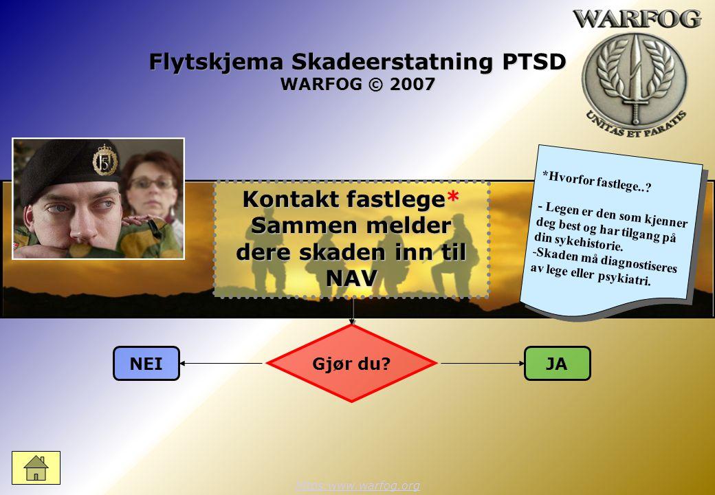 Flytskjema Skadeerstatning PTSD WARFOG © 2007 https:www.warfog.org Gjør du.