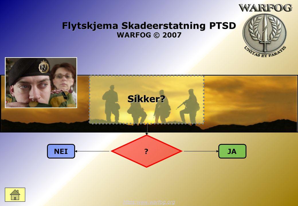 Flytskjema Skadeerstatning PTSD WARFOG © 2007 https:www.warfog.org ? NEIJASikker?