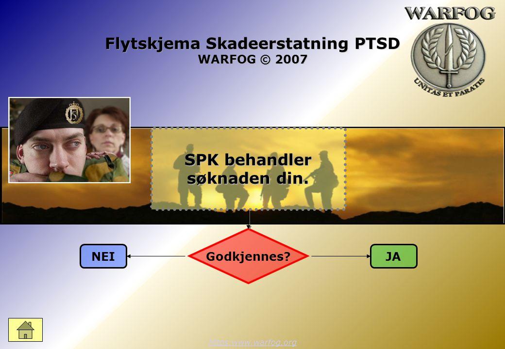 Flytskjema Skadeerstatning PTSD WARFOG © 2007 https:www.warfog.org Godkjennes.