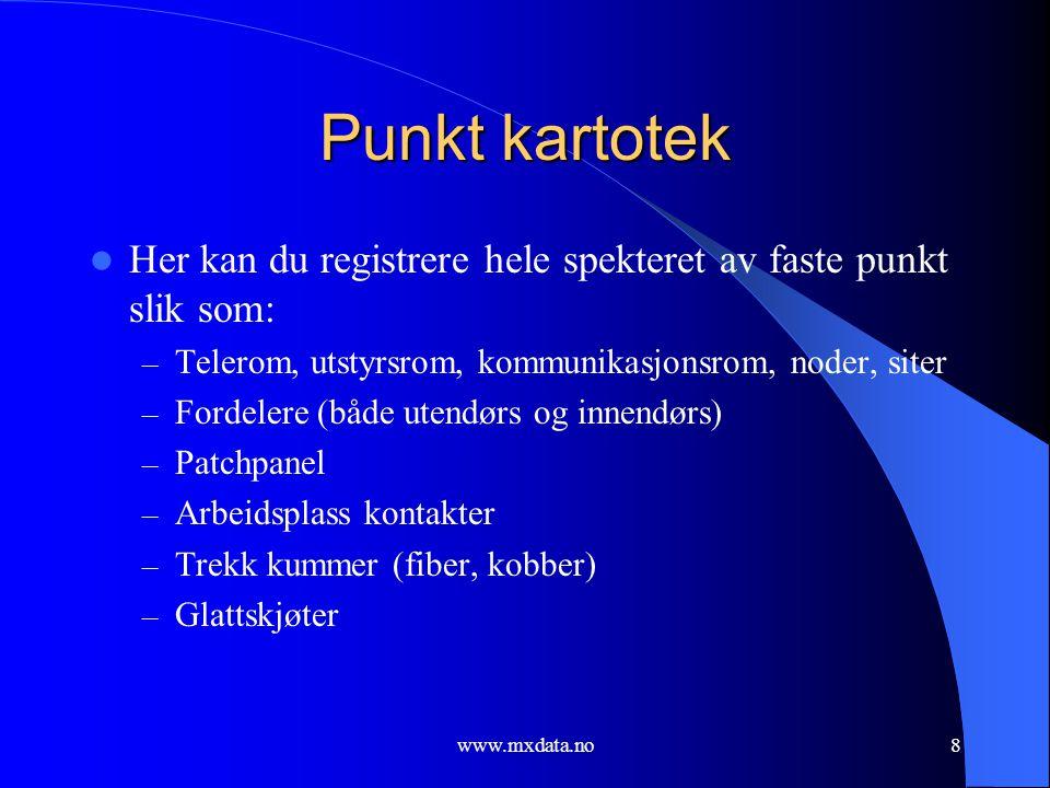 www.mxdata.no9 Skjermbilde Punkt kartotek