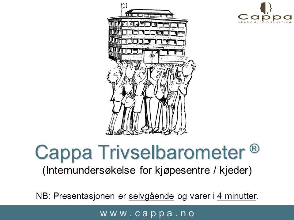 w w w.c a p p a. n o Hva er Cappa Trivselbarometer.