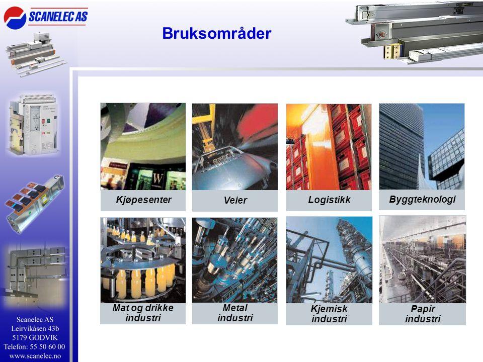 Bruksområder Kjøpesenter Mat og drikke industri Logistikk Veier Byggteknologi Kjemisk industri Papir industri Metal industri