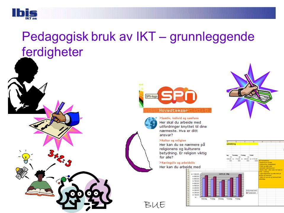 IKT som eget kunnskapsfelt og IKT i fag Digital kompetanse påvirker de tradisjonelle basisferdighetene ved at tradisjonelle kulturelle ferdigheter som