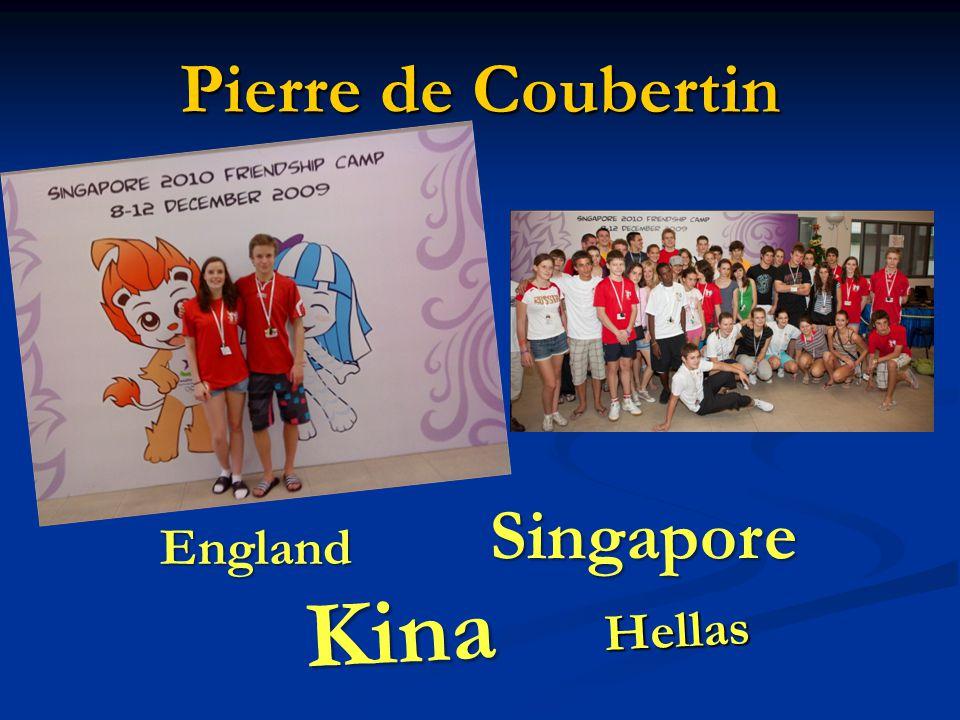 Pierre de Coubertin Hellas Singapore Kina England