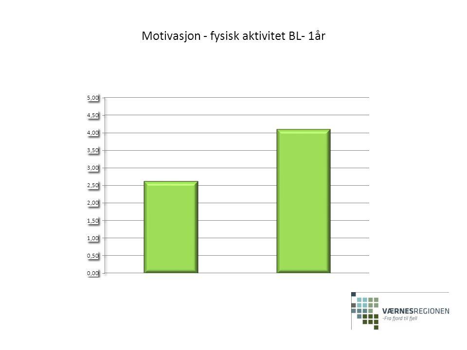 Motivasjon - fysisk aktivitet BL- 1år