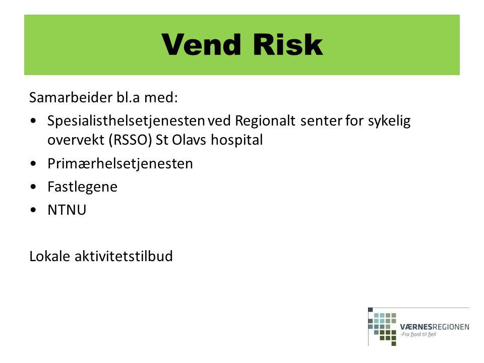 Samarbeider bl.a med: •Spesialisthelsetjenesten ved Regionalt senter for sykelig overvekt (RSSO) St Olavs hospital •Primærhelsetjenesten •Fastlegene •