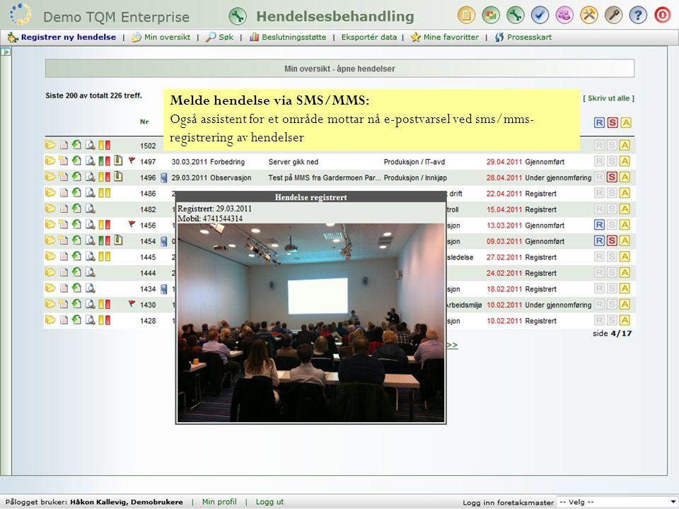 SMS/MMS tilrettelagt for bruk i utlandet. - Man kan legge til utenlandske telefonnummer i Min profil - SMS-kvitteringer blir språkstyrt (alle nummer m