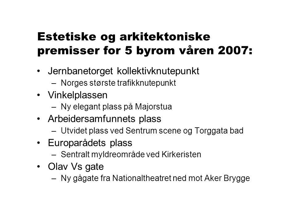 Nye prosjekter høsten 2007 •Grensen •Storgata •Rådhusgata •Torggata (østre del)