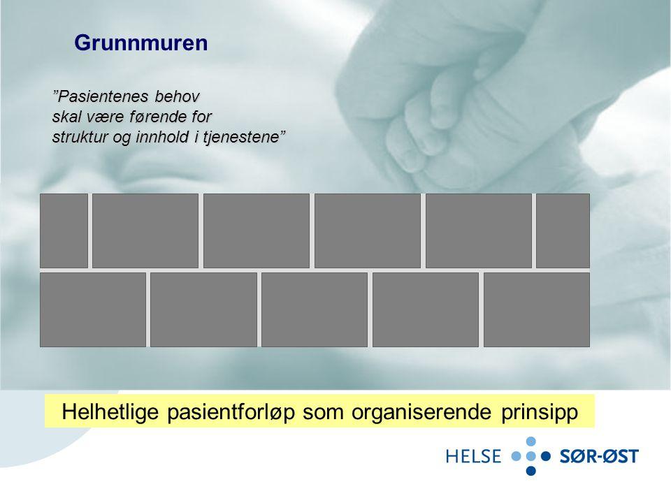 """Grunnmuren """"Pasientenes behov skal være førende for struktur og innhold i tjenestene"""" Helhetlige pasientforløp som organiserende prinsipp"""