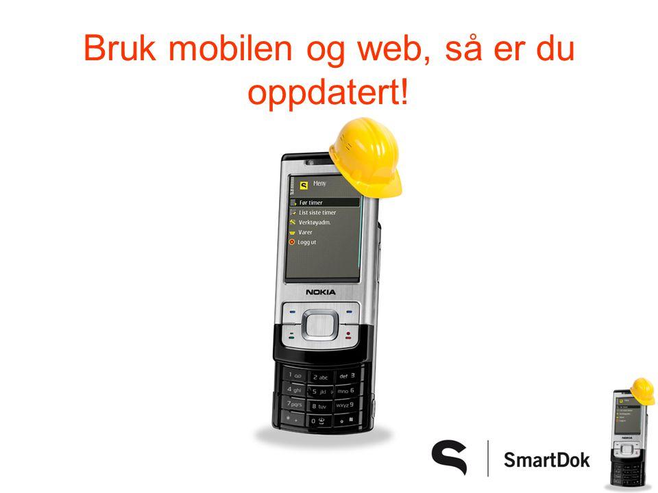 Oversikt over maskinparken Du har oppdatert kilometerstand/timetall Varsel når service er passert på SMS!