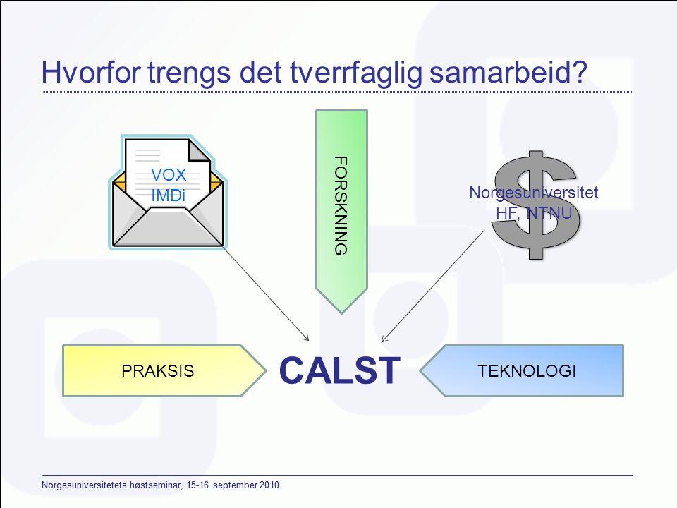 Norgesuniversitetets høstseminar, 15-16 september 2010 Hvorfor uttale- og lyttetrening.