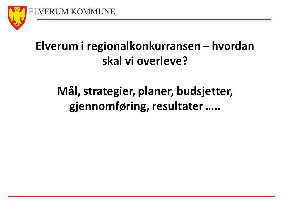Elverum i regionalkonkurransen – hvordan skal vi overleve? Mål, strategier, planer, budsjetter, gjennomføring, resultater …..