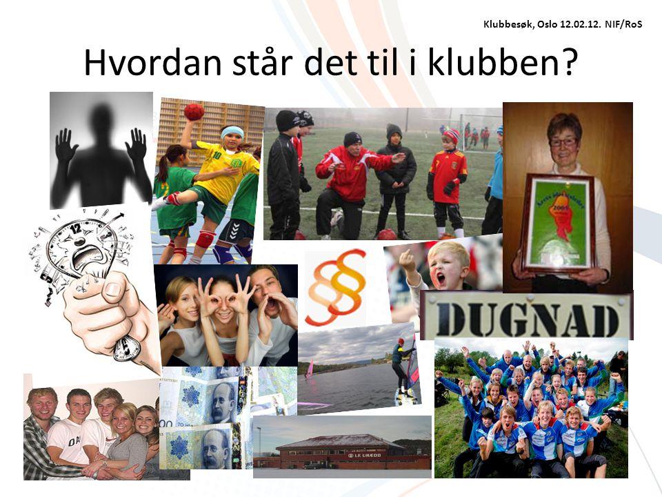 Hvordan står det til i klubben? Klubbesøk, Oslo 12.02.12. NIF/RoS