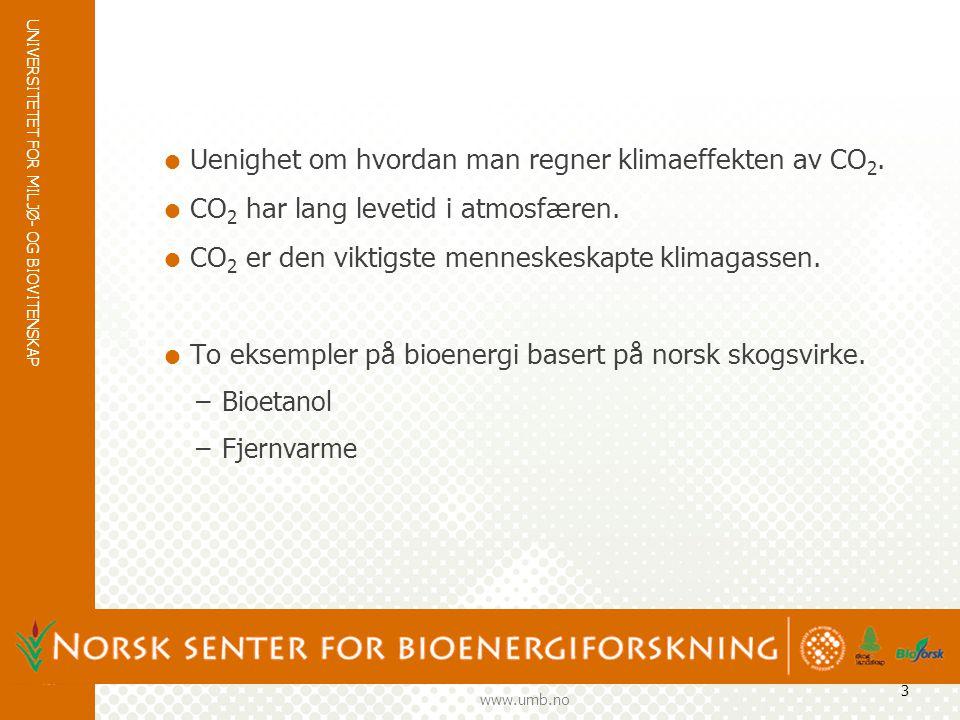 UNIVERSITETET FOR MILJØ- OG BIOVITENSKAP www.umb.no 4 SYSTEM: BIOETANOL CO 2 Borregaard Kemetyl ASKO Vedlikehold Konstruksjon