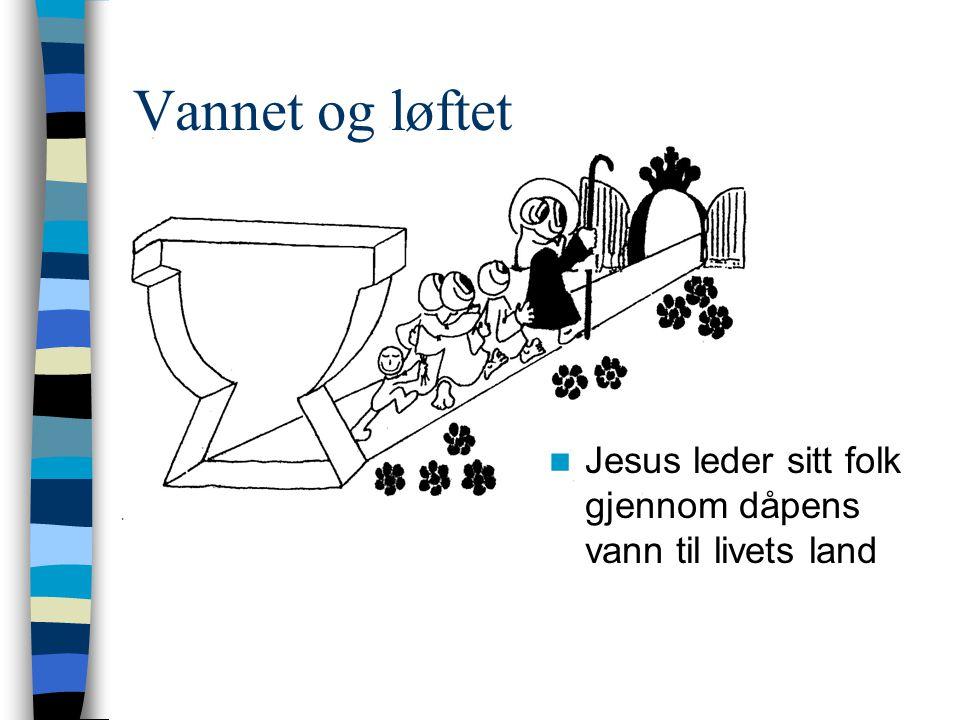  Jesus leder sitt folk gjennom dåpens vann til livets land Vannet og løftet