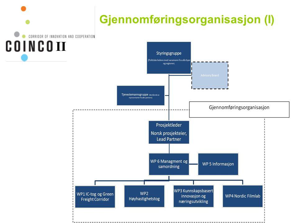 Gjennomføringsorganisasjon (I) II