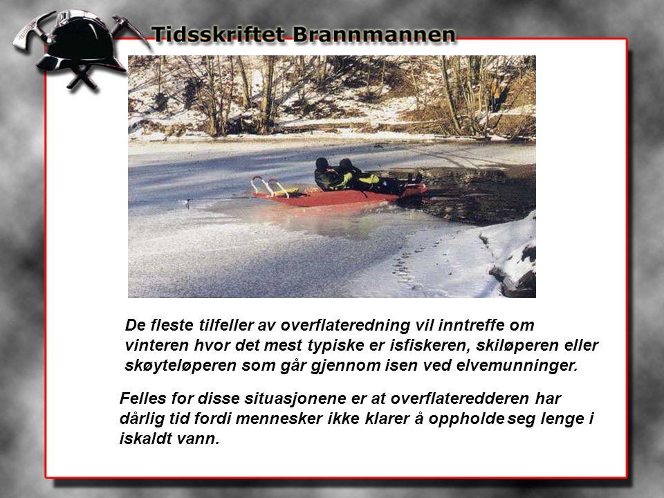 De fleste tilfeller av overflateredning vil inntreffe om vinteren hvor det mest typiske er isfiskeren, skiløperen eller skøyteløperen som går gjennom
