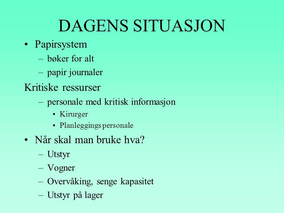 INTRODUKSJON •Under kniven er et verktøy for det administrerende personalet ved sykehuset i Molde. Det letter planleggingen av aktiviteter, samt lagre