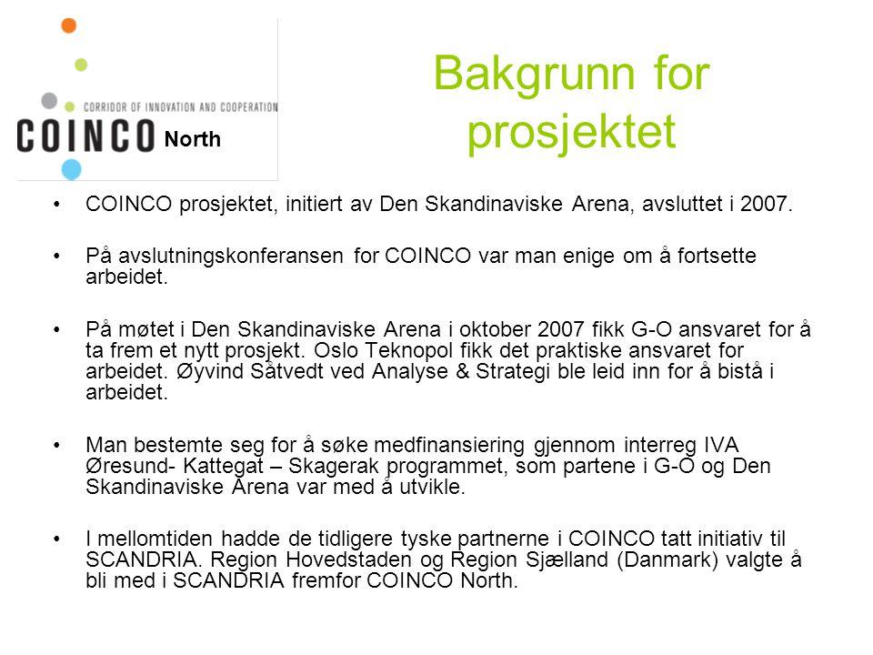 Visjon •Utvikle aksen Øresund - Göteborg – Oslo som en viktig del av Det Nordiske Triangel (TEN-T prosjekt nr.