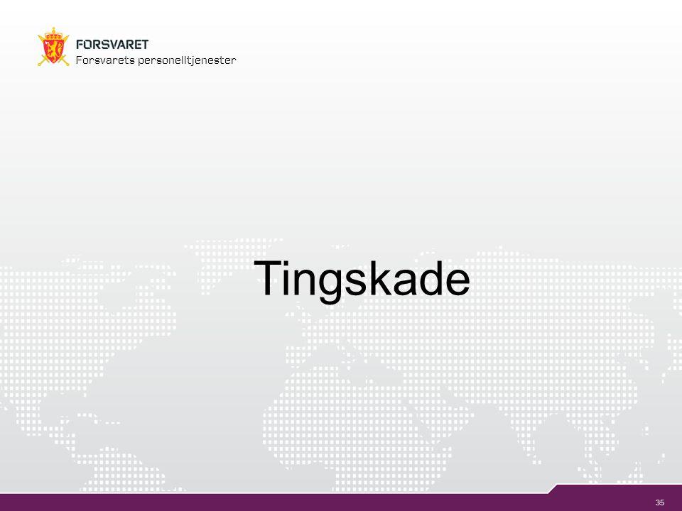 35 Forsvarets personelltjenester Tingskade