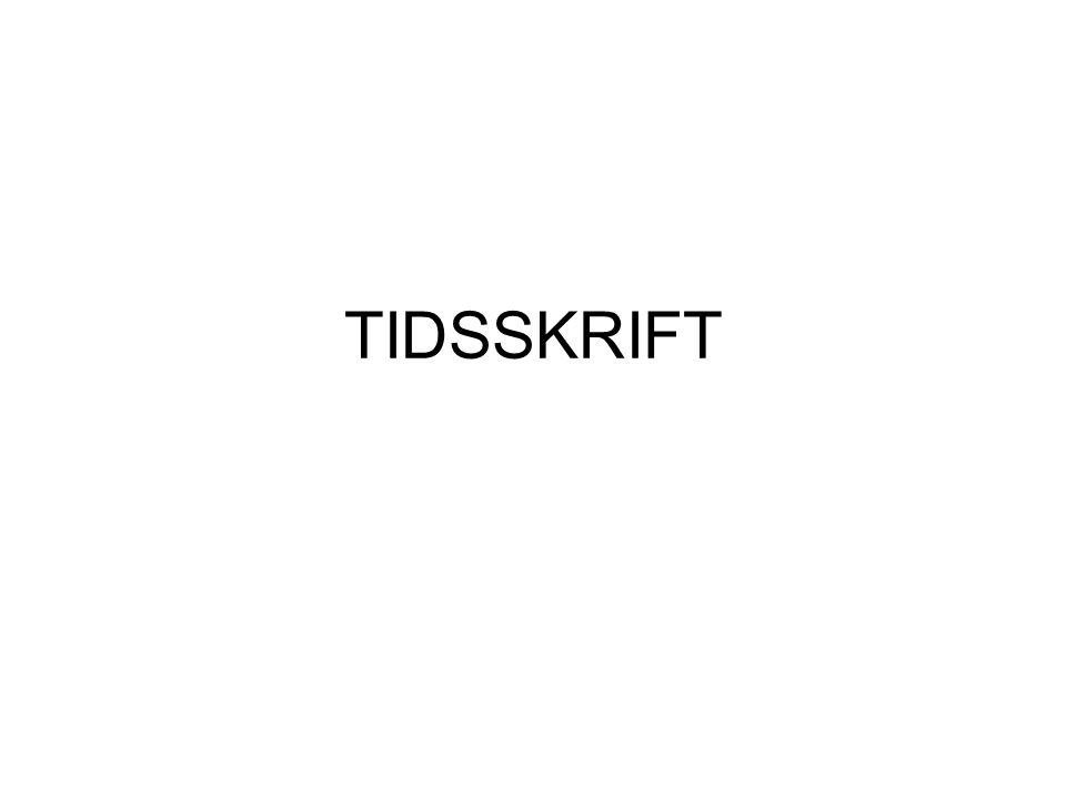 TIDSSKRIFT