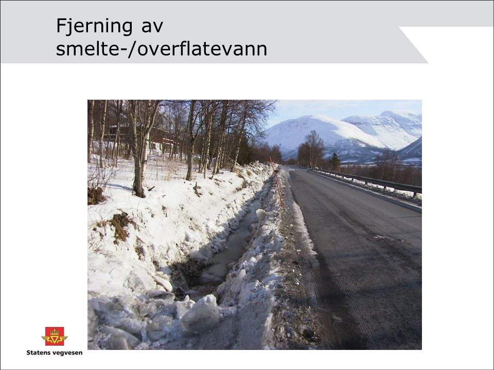Fjerning av smeltevann