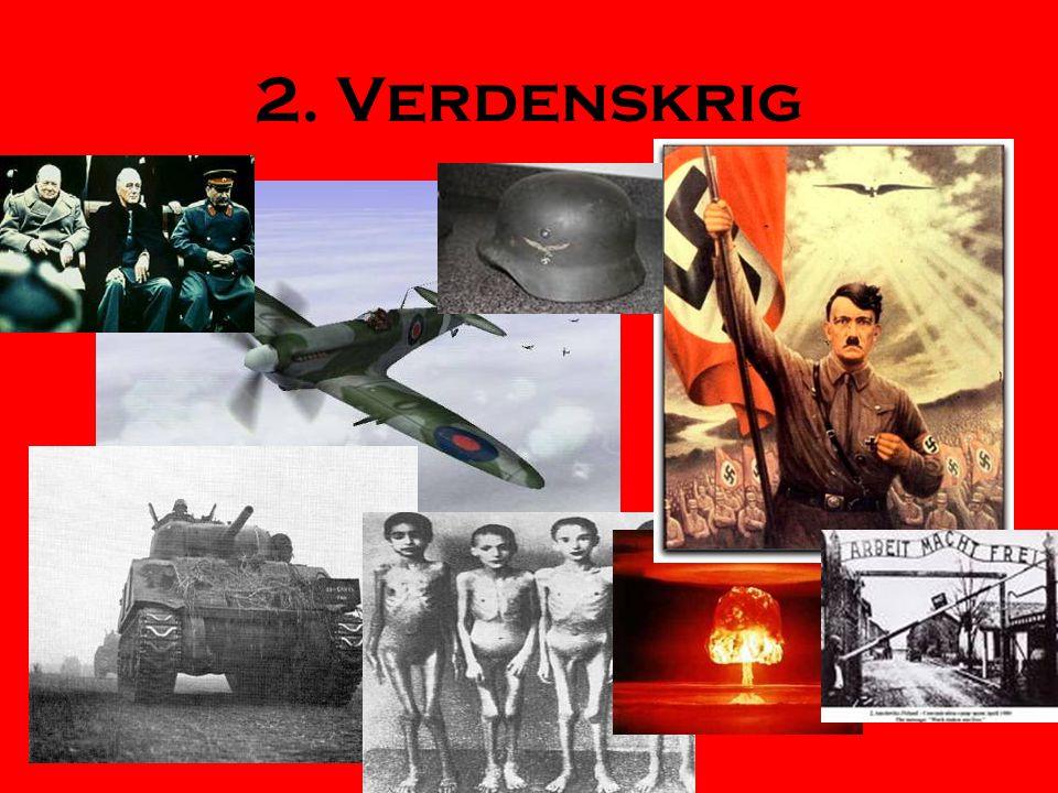 Tyskland i mellomkrigstiden -Hitlers vei til makten •Tap i 1.verdenskrig Versaillestraktaten •13.