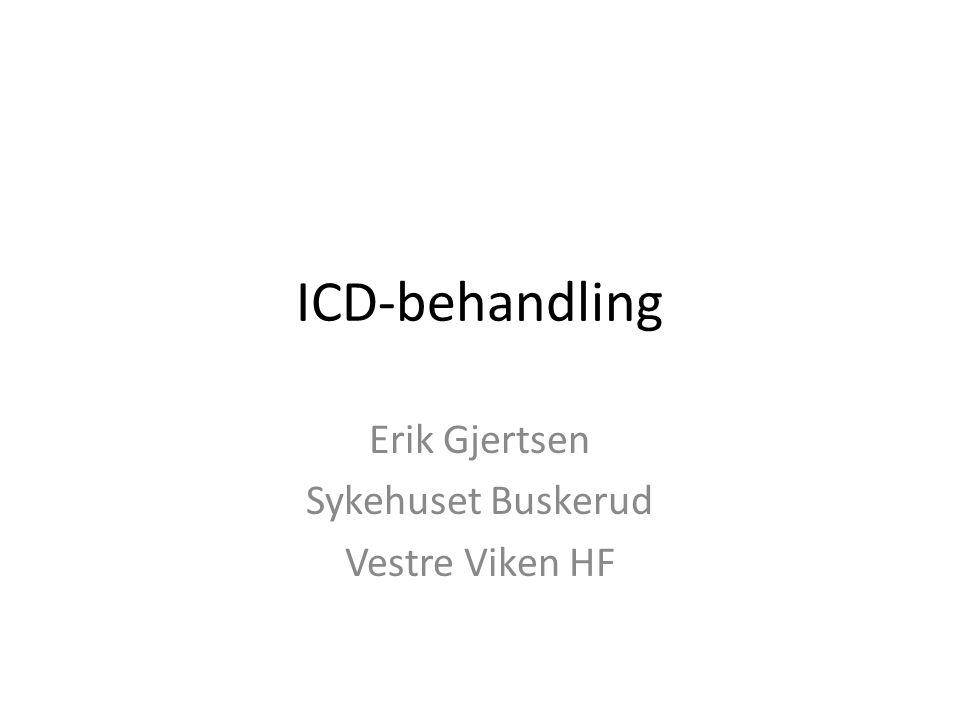 ICD-behandling Erik Gjertsen Sykehuset Buskerud Vestre Viken HF