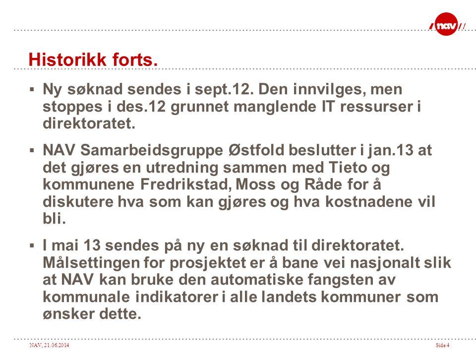 NAV, 21.06.2014Side 4  Ny søknad sendes i sept.12.